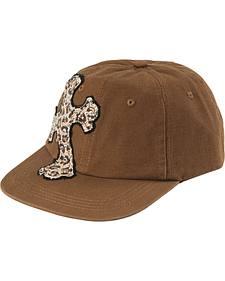 Leopard Print Cross Brown Fashion Cap