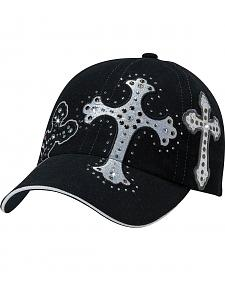 Bedecked & Embroidered Cross Cap