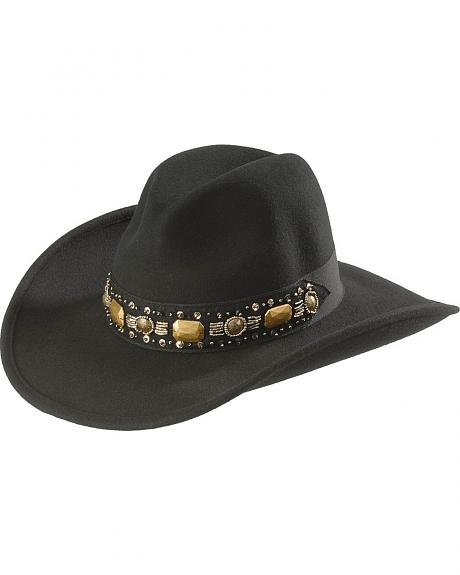 Scala Jeweled Wool Cowboy Hat