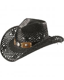 Bullhide Women's Pure Country Black Straw Cowgirl Hat