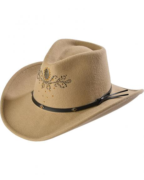 Destiny Rhinestone Embellished Crushable Wool Cowgirl Hat