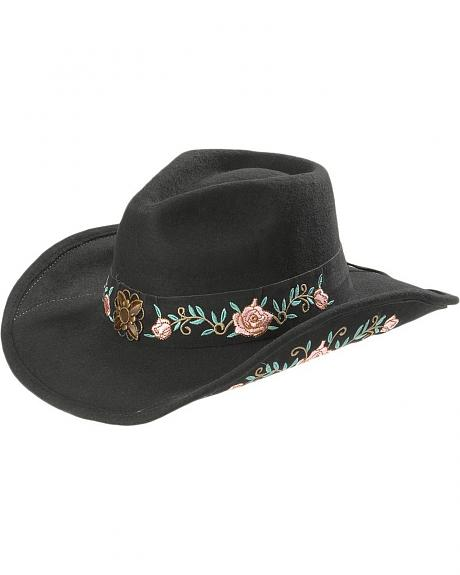 Bullhide Dance in the Dark Wool Cowgirl Hat