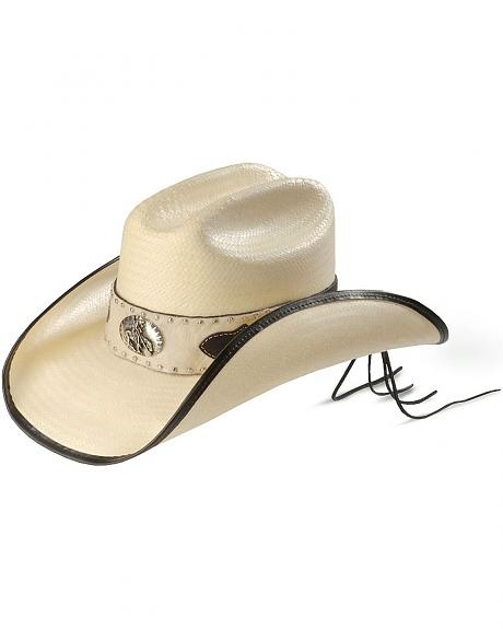 Scala End of the Trail Straw Cowboy Hat