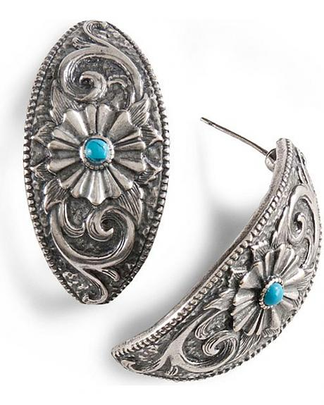 Montana Silversmiths Faux Turquoise Earrings
