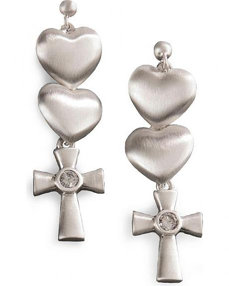 Montana Silversmiths Hearts & Cross Dangle Earrings