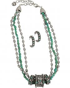 Montana Silversmiths 3-Rings Turquoise Necklace
