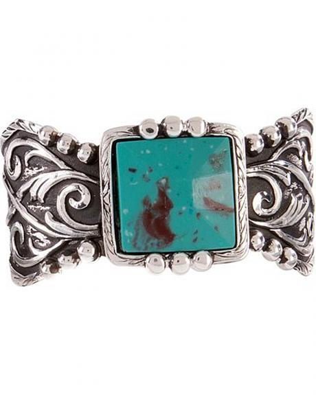 Montana Silversmiths Blue Earth and Filigree Cuff Bracelet