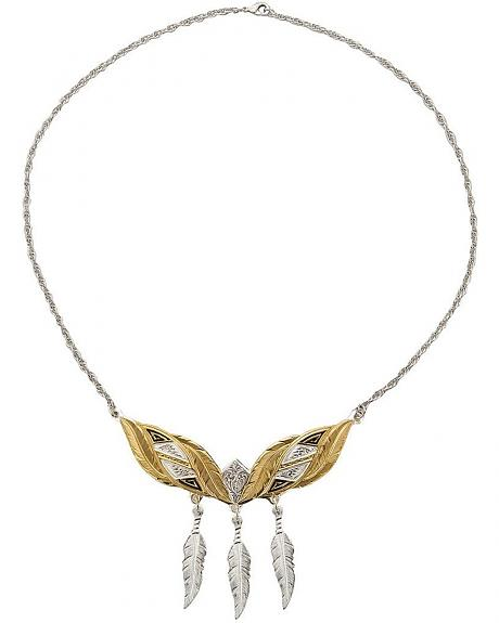 Montana Silversmiths Fancy Feathers Choker