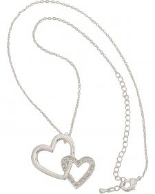 Montana Silversmiths Bedecked Double Heart Necklace