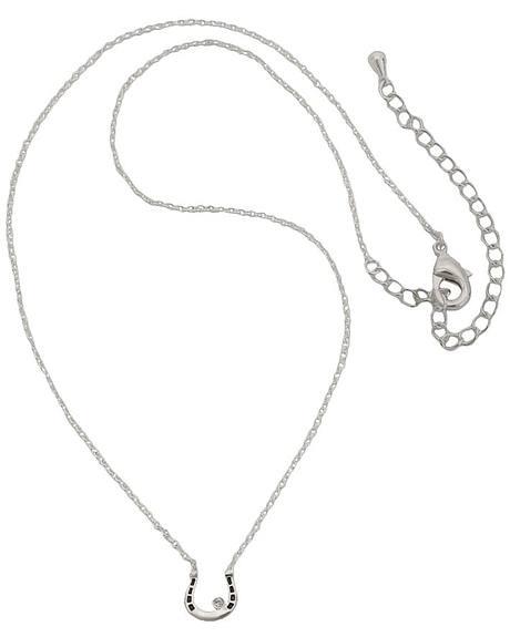 Montana Silversmiths Small Horseshoe & Rhinestone Necklace
