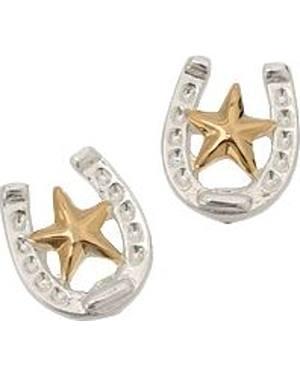 Montana Silversmiths Horseshoe & Star Earrings