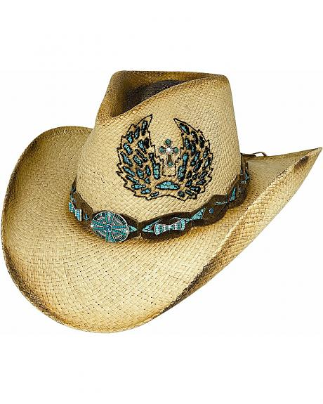 Bullhide Hope Has Wings Panama Straw Cowgirl Hat