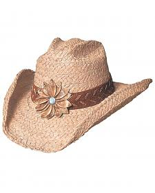 Bullhide Sunset Braided Raffia Straw Cowgirl Hat