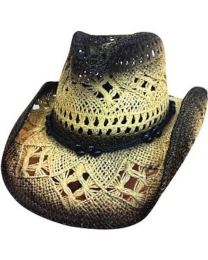 Bullhide Scorched Black Toyo Straw Hat