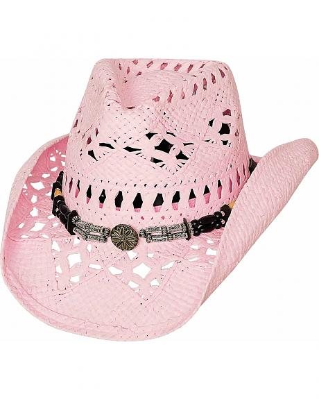 Bullhide All Summer Long Pink Toyo Straw Cowgirl Hat