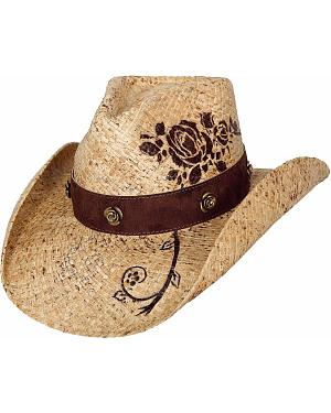 Bullhide Romantic Dream Raffia Straw Cowgirl Hat