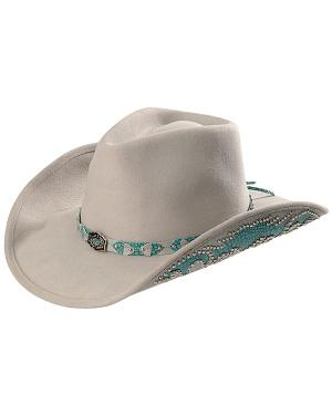 Bullhide Grey Natural Beauty Wool Cowgirl Hat