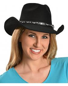 Bullhide Black Snow Drift Wool Cowgirl Hat