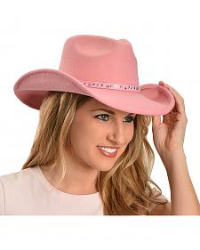 Bullhide Pink Snow Drift Wool Cowgirl Hat