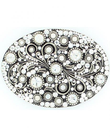 Oval Crystals Buckle
