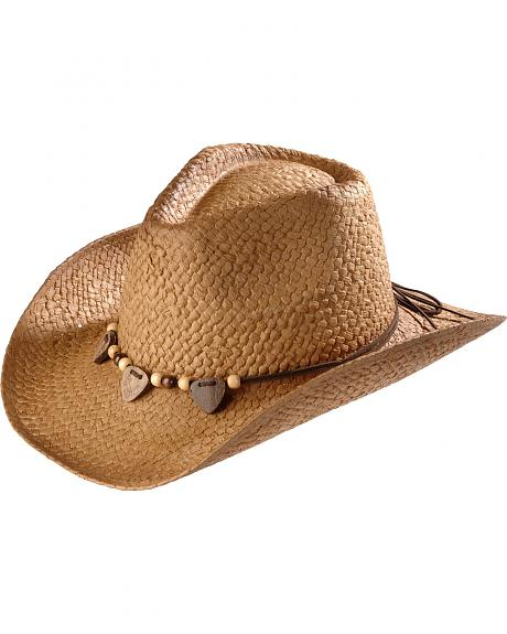 Outback Painted Straw Cowgirl Hat