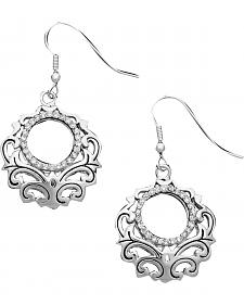 Montana Silversmiths Puffed Filigree Earrings