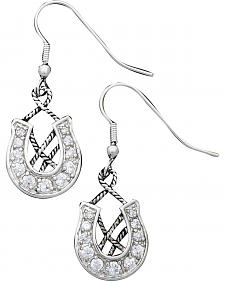 Montana Silversmiths Rope & Horseshoe Earrings