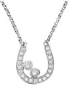 Montana Silversmiths Cubic Zirconia Rhinestone Horseshoe Necklace