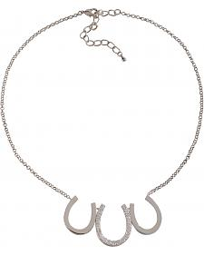 Montana Silversmiths Triple Horseshoe Necklace