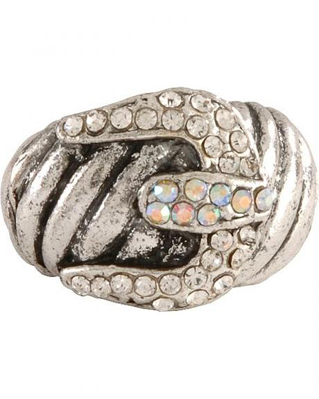 Large Bling Buckle Ring