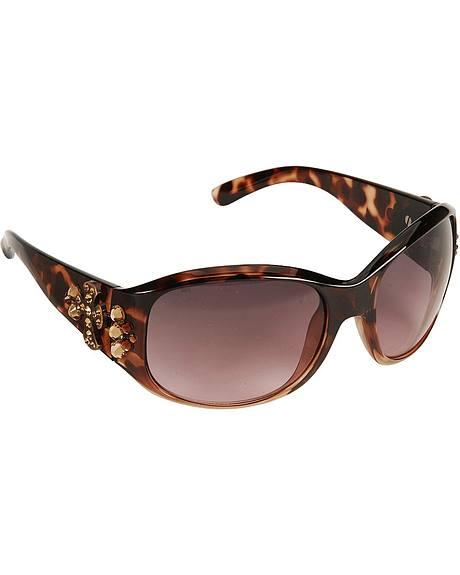 Blazin Roxx UV 400 Protection Rhinestone Cross Concho Sunglasses