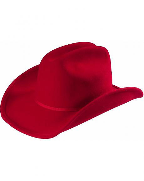 Scala Red Cattleman Wool Felt Cowgirl Hat