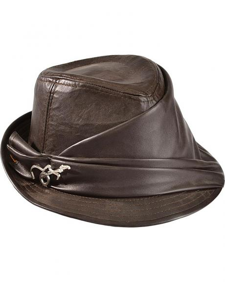 Carlos Santana Faux Leather Fedora