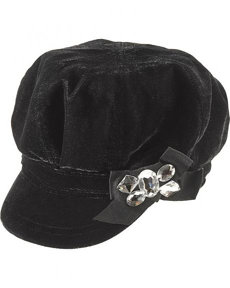 Scala Velvet Newsboy Hat