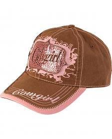 Blazin Roxx Brown & Pink Metallic Cowgirl Cap