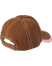 Blazin Roxx Brown & Pink Metallic Cowgirl Cap at Sheplers