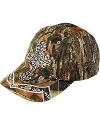 Blazin Roxx Mossy Oak Bling Cross Cap at Sheplers
