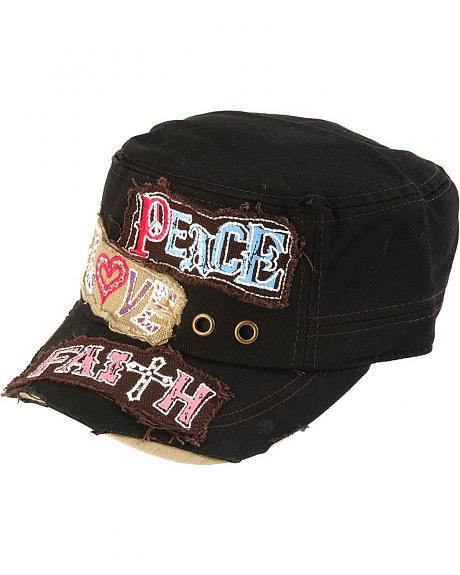 Black Peace, Love & Faith Cap