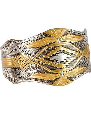 Montana Silversmiths Scalloped Aztec Cuff Bracelet