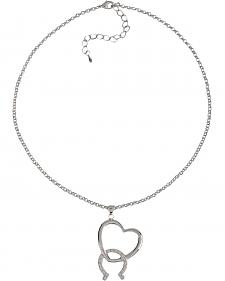 Montana Silversmiths Cubic Zirconia Heart & Horseshoe Necklace