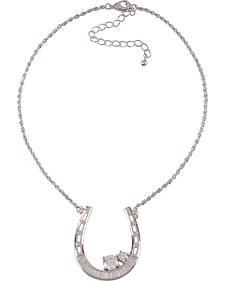 Montana Silversmiths Horseshoe Baguette Necklace