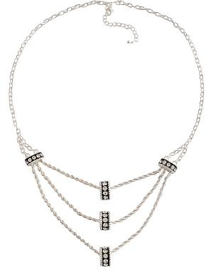 Montana Silversmiths Crystal Ring Tiered Chain Necklace