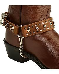 Austrian Crystal Trimmed Leather Boot Bracelet at Sheplers