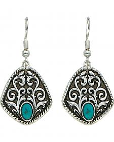 Montana Silversmiths Antique Filigree & Turquoise Earrings
