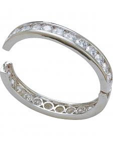 Montana Silversmiths Rhinestone Embellished Hinged Bangle Bracelet