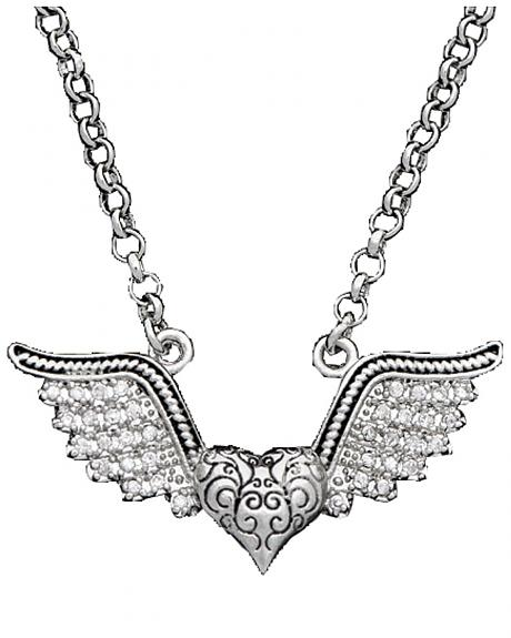 Montana Silversmiths Antique Winged Heart Necklace