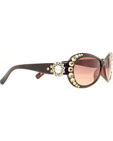 Blazin Roxx Topaz Crystal Sunglasses