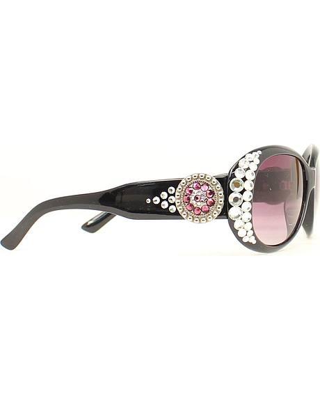 Blazin Roxx Round Concho Crystal Sunglasses