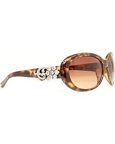 Floral Rhinestone Tortoise Sunglasses
