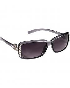 Blazin Roxx UV 400 Protection Rhinestone Studded Horseshoe Sunglasses